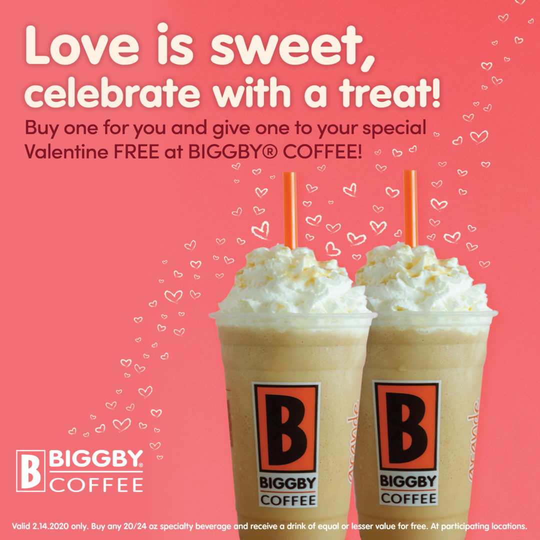 SWEETEN YOUR VALENTINE'S DAY AT BIGGBY® COFFEE